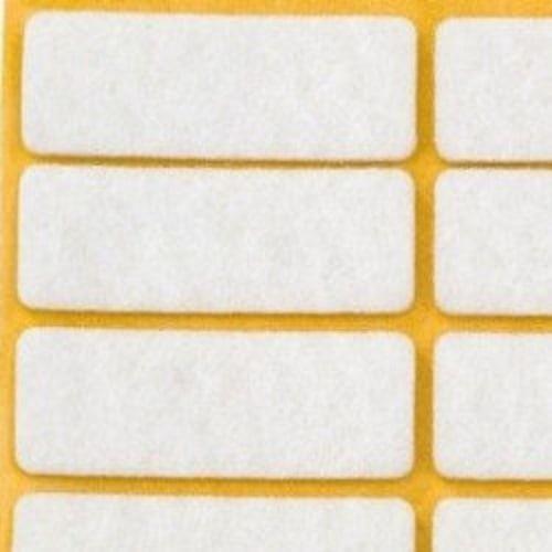 Zelfklevend vilt vierkant wit - vloerbescherming - Vloeren Venlo